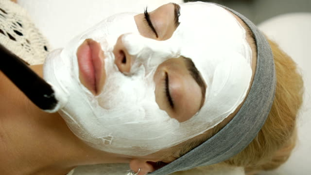 face treatment - spa stock videos & royalty-free footage