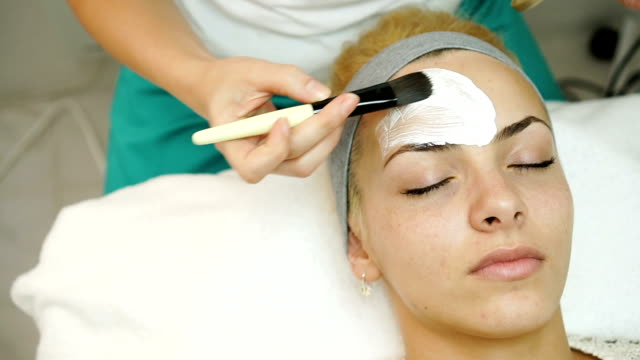 face treatment - beautician stock videos and b-roll footage