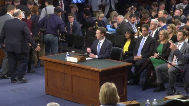 facebook ceo mark zuckerberg arrives at the us senate to testify to a joint committee session about a data scandal involving the social media network - congress stock videos & royalty-free footage