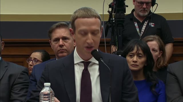 facebook ceo mark zuckerberg says in a statement to the house financial services committee that he hopes to talk about the risks of not innovating... - social media stock videos & royalty-free footage