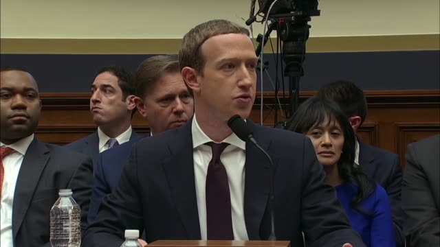 facebook ceo mark zuckerberg says there are risks to any project that comes forward into be diligent which is why regulations of are in place but... - congress stock videos & royalty-free footage