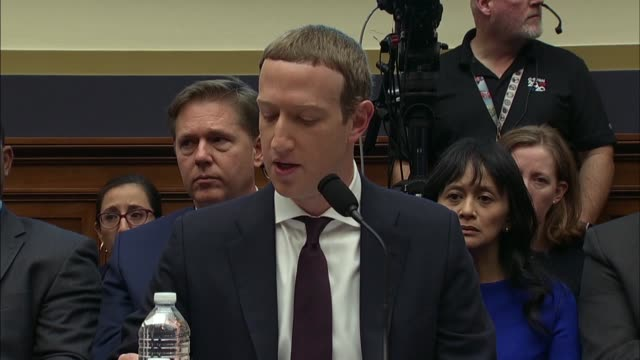 facebook ceo mark zuckerberg tells the house financial services committee in a statement that discussion at the hearings was too important for one... - launch event stock videos & royalty-free footage