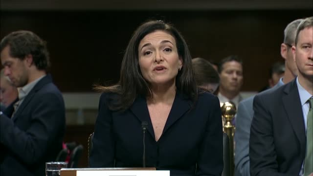 facebook chief operating officer sheryl sandberg says in testimony before the senate intelligence committee that security is never a finished job,... - trust stock videos & royalty-free footage