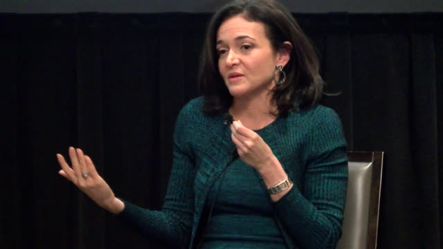 Facebook Chief Operating Officer Sheryl Sandberg spoke on behalf of Democratic gubernatorial candidate Mike Johnston at the Denver Athletic Club...