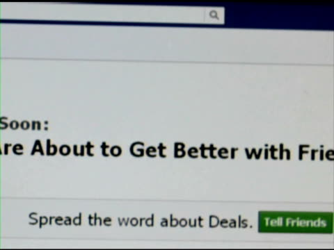 facebook deals webpage - pagina web video stock e b–roll
