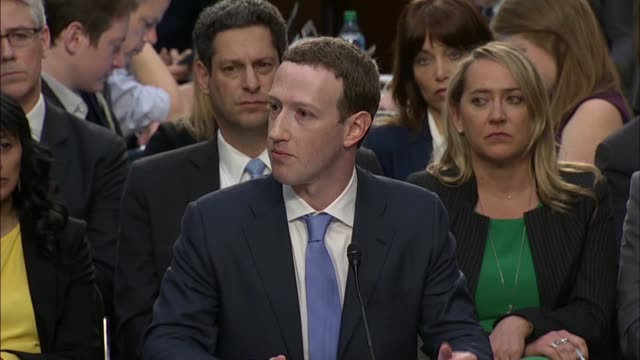 facebook founder and ceo mark zuckerberg reads from prepared remarks before senate committees at a joint hearing on data privacy zuckerberg says... - founder stock videos and b-roll footage