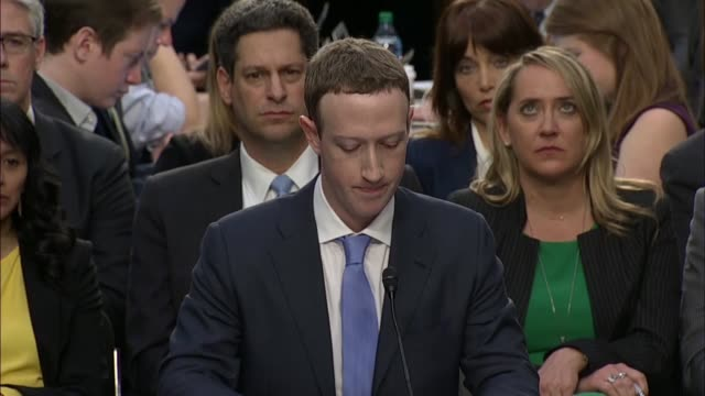facebook founder and ceo mark zuckerberg reads from prepared remarks before senate committees at a joint hearing on data privacy zuckerberg discusses... - founder stock videos and b-roll footage