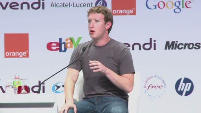 vídeos de stock, filmes e b-roll de facebook founder mark zuckerberg has denied that his global social networking site was to thank for enabling the revolutions in tunisia and egypt... - arab spring