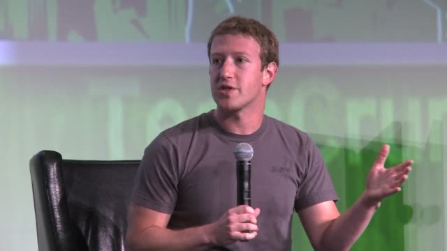 facebook founder mark zuckerberg says he is steering the social network giant to focus more on mobile saying it would help ease concerns after a... - plain stock videos & royalty-free footage