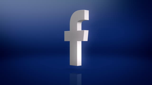facebook icon motion background - networking stock videos & royalty-free footage