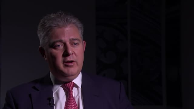 brandon lewis interview england london int brandon lewis mp interview sot part 3 of 3 - network security stock videos & royalty-free footage