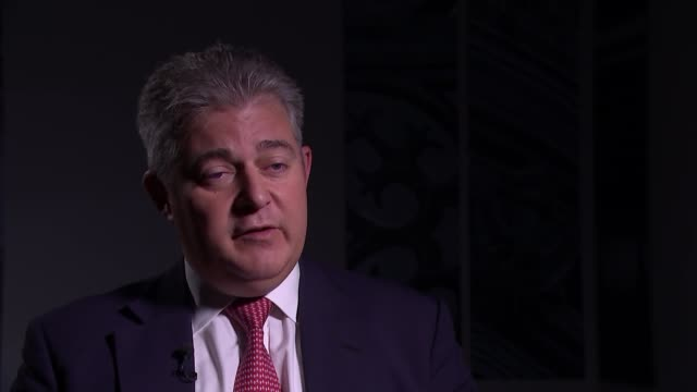 brandon lewis interview england london int brandon lewis mp interview sot part 2 of 3 - network security stock videos & royalty-free footage