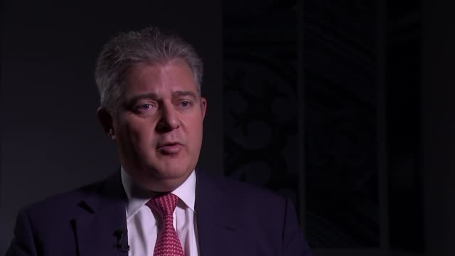 brandon lewis interview england london int brandon lewis mp interview sot part 1 of 3 - network security stock videos & royalty-free footage