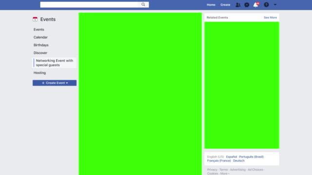 facebook style website with interactions increasing as content goes viral receiving messages notifications and friend requests green screen chroma... - notifications stock videos & royalty-free footage