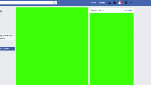 facebook style website with interactions increasing as content goes viral receiving messages notifications and friend requests green screen chroma... - social media stock videos & royalty-free footage