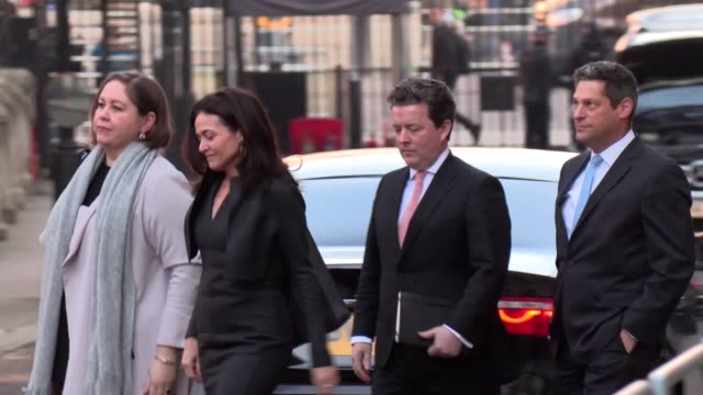 facebook's chief operating officer sheryl sandberg arrives at downing street for a scheduled meeting following by home secretary priti patel facebook... - home secretary stock videos & royalty-free footage