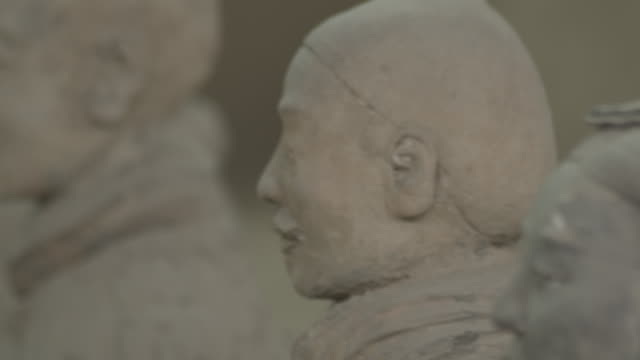 Faces of warrriors in the Terracotta Army