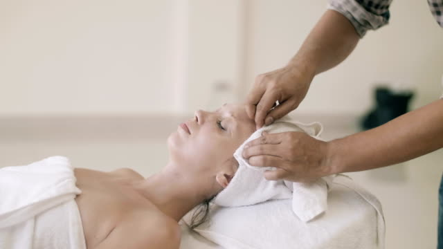 facial massage - facial massage stock videos and b-roll footage