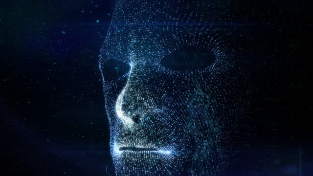 vídeos de stock e filmes b-roll de facial recognition - face humana