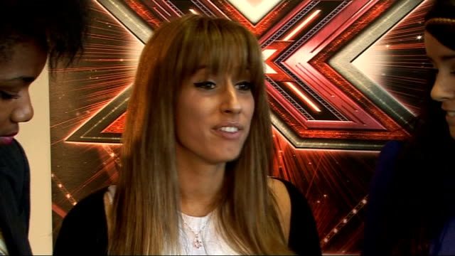 'X Factor' live show launched Interview with Adedeji Solomon and Jones SOT Lucie on being favourite to win unpredictable means nothing / Lucie on...