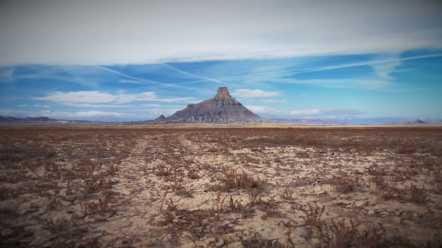 factory butte in utah motion control time lapse - butte rocky outcrop stock videos & royalty-free footage