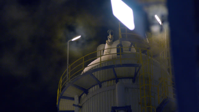 factory cooling tower and smokes - power station stock videos & royalty-free footage