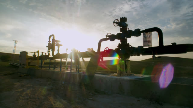factory pipeline in nature - aerial view - pipeline stock videos & royalty-free footage