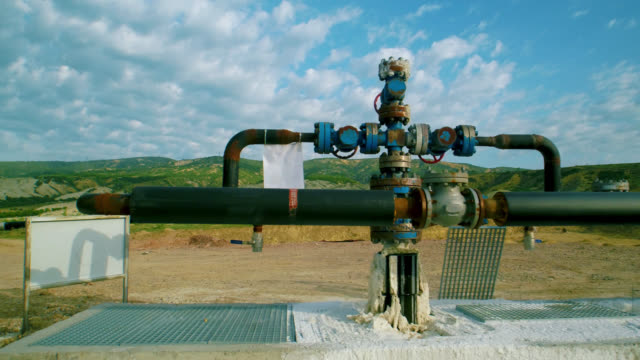 factory pipeline in nature - aerial view - pump jack stock videos & royalty-free footage