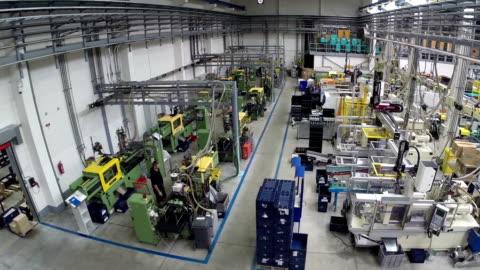 usine di produzione - factory video stock e b–roll