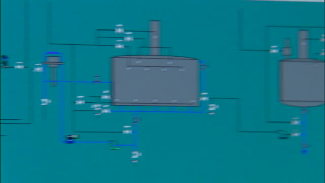 a factory schematic shows tanks used in making alcohol. - flow chart stock videos & royalty-free footage