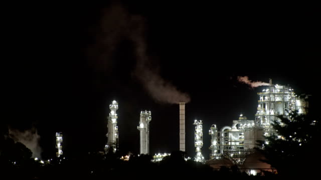 factory smoke  at night - hot spring stock videos & royalty-free footage
