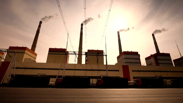 factory with pollution - smoke stack stock videos & royalty-free footage