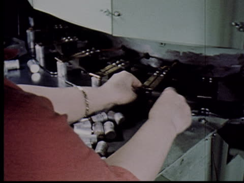 ms, cu, composite, factory worker loading electronic parts onto conveyer belt for testing, usa - electronics industry stock videos & royalty-free footage