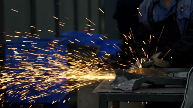 factory workers working at spot welding - welder stock videos & royalty-free footage