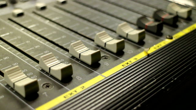 fader mixing console