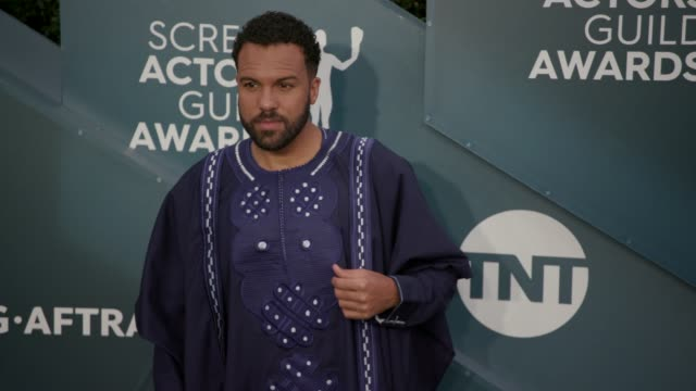 o t fagbenle at the 26th annual screen actors guild awards arrivals at the shrine auditorium on january 19 2020 in los angeles california - shrine auditorium stock videos & royalty-free footage