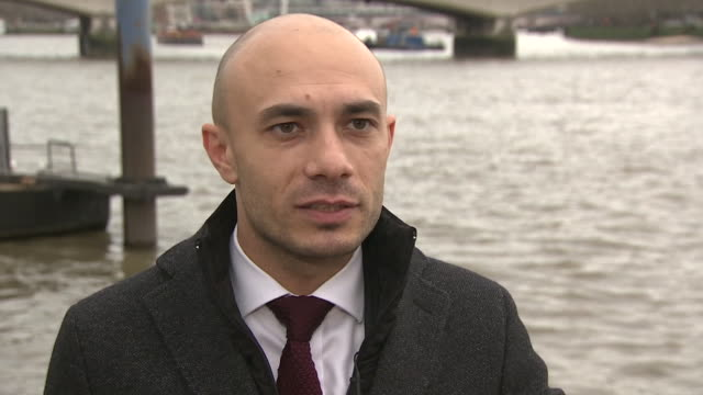 faig abbasov of the transport and the environment group saying carbon emissions by the shipping industry have gone under the radar for far too long - mineral stock videos & royalty-free footage