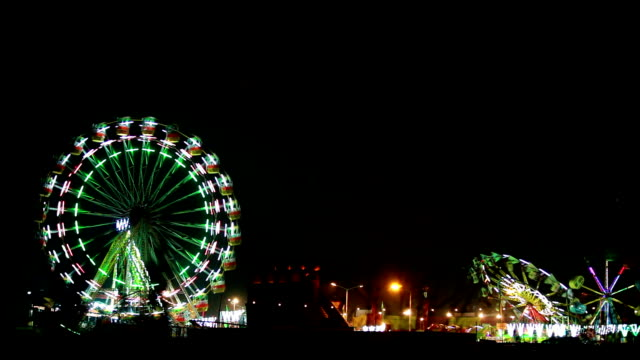 fair at night in delhi - roundabout stock videos and b-roll footage