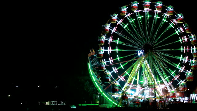 fair at night in delhi - celebratory event stock videos & royalty-free footage