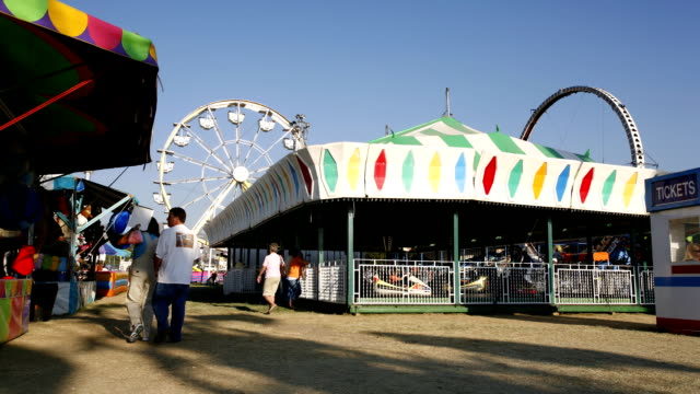 Fairgrounds in fast motion