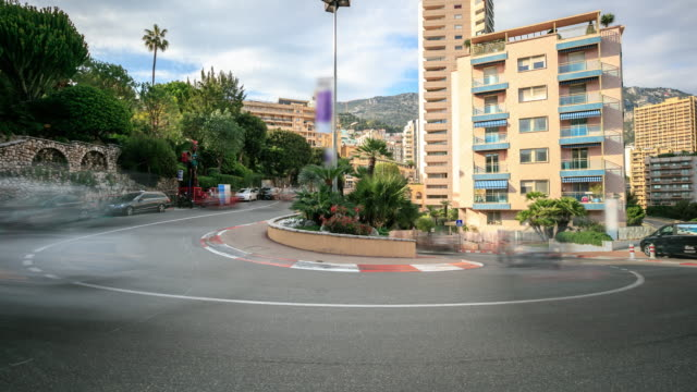fairmont famous hairpin turn in monte-carlo - monaco stock videos and b-roll footage