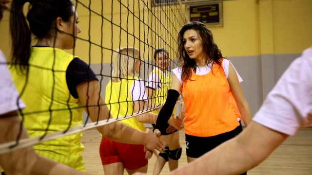 fairplay handshake - volleyball net stock videos & royalty-free footage