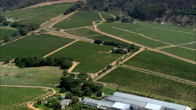 fairview winery and goat tower  - aerial view - western cape,  cape winelands district municipality,  drakenstein,  south africa - stellenbosch stock videos and b-roll footage