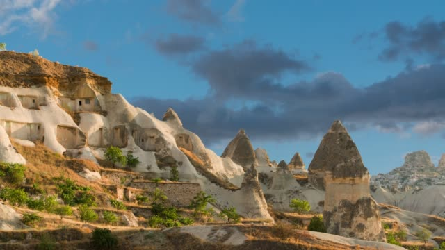 fairy chimneys in cappadocia göreme - indigenous culture stock videos & royalty-free footage
