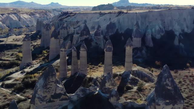 fairy chimneys in cappadocia - pinnacle stock videos & royalty-free footage