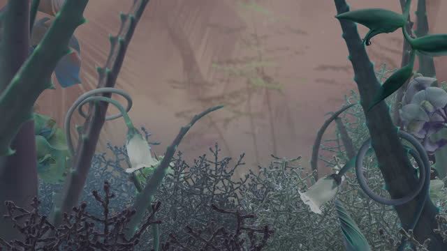 fairy garden in pink fog - fairy stock videos & royalty-free footage