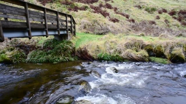 fairy knowe bridge over the water of gregg, ayrshire - david johnson stock videos & royalty-free footage