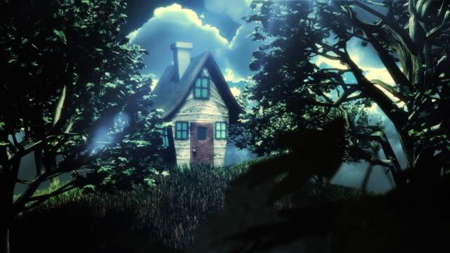 stockvideo's en b-roll-footage met fairy tale house - prentenboek