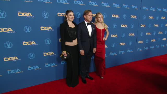 faith anne schroder, cambrie schroder and ricky schroder at the 72nd annual dga awards at ritz-carlton on january 25, 2020 in los angeles, california. - リック シュローダー点の映像素材/bロール