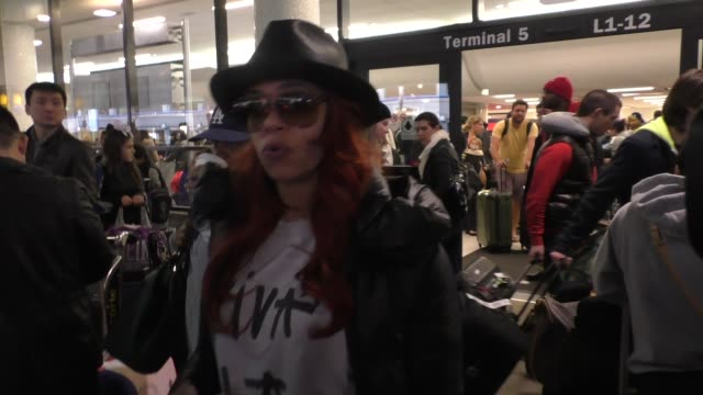 interview faith evans talks about lapd reopening the notorious big case while arriving at lax airport in los angeles celebrity sightings on january... - biggie smalls stock videos and b-roll footage